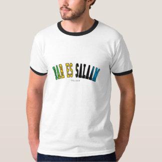 Dar es Salaam in Tanzania national flag colors T-Shirt