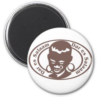 Dar es Salaam Stamp 2 Inch Round Magnet