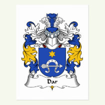 Dar Family Crest Postcard