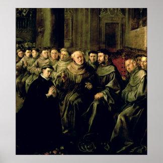Dar la bienvenida a St Bonaventure en el francisca Póster