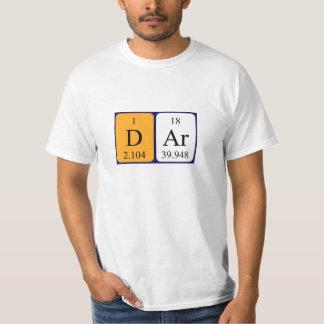 Dar periodic table name shirt