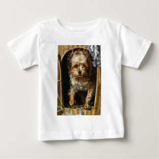Darby a Yorkshire Terrier Print Baby T-Shirt