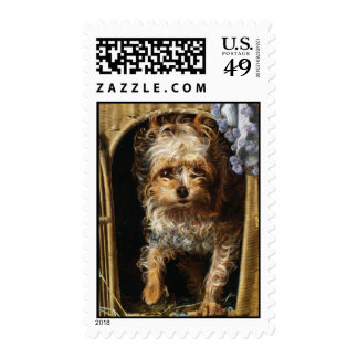 Darby a Yorkshire Terrier Print Postage