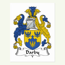 Darby Family Crest Postcard