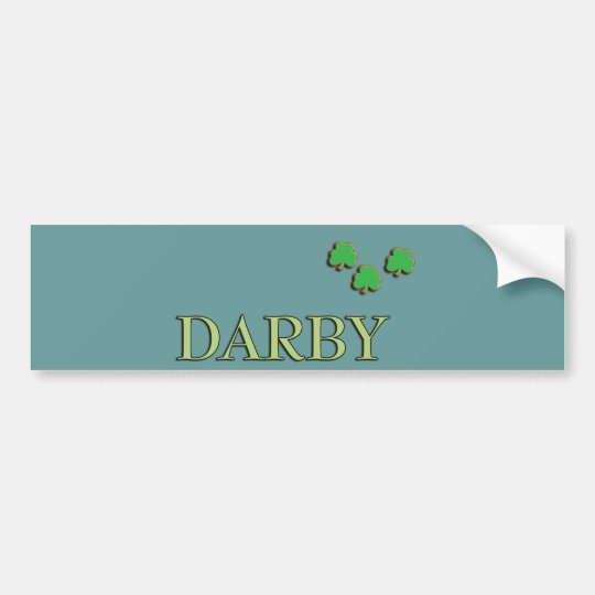 Darby Irish Bumper Sticker