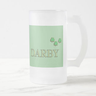 Darby Irish Frosted Glass Beer Mug