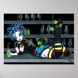 """Darby"" Roller Derby Skate Girl Poster"