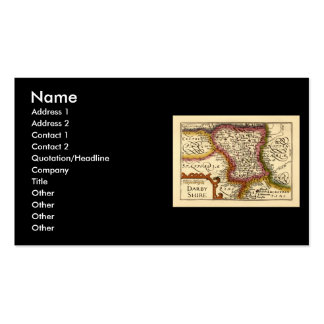 """""""Darbyshire"""" Derbyshire County Map, England Double-Sided Standard Business Cards (Pack Of 100)"""