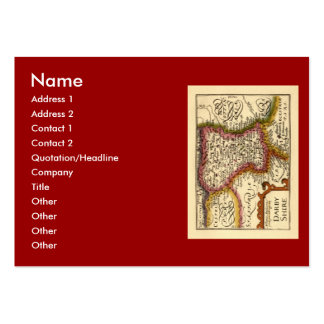 """Darbyshire"" Derbyshire County Map, England Large Business Card"