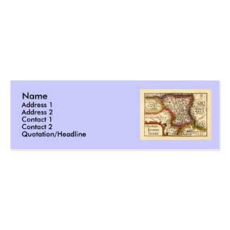 """Darbyshire"" Derbyshire County Map, England Mini Business Card"