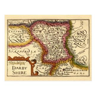 Darbyshire Derbyshire County Map England Postcard