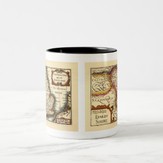 """Darbyshire"" Derbyshire County Map, England Two-Tone Coffee Mug"