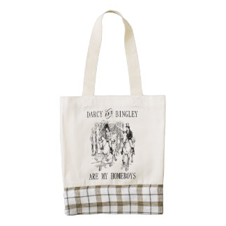 Darcy & Bingley are my homeboys Zazzle HEART bag Zazzle HEART Tote Bag