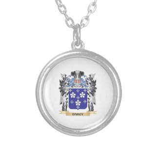 Darcy Coat of Arms - Family Crest Round Pendant Necklace