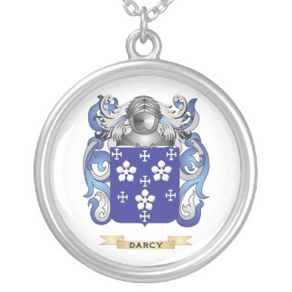 Darcy Coat of Arms Round Pendant Necklace