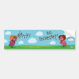 darcy contra la pegatina para el parachoques de Ro Etiqueta De Parachoque