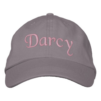 Darcy Embroidered Baseball Cap Hat Pink Gray