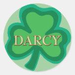 Darcy Irish Round Sticker