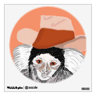 Darcy Marmoset wearing His Hat Wall Decal