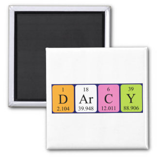 Darcy periodic table name magnet