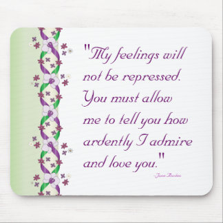 Darcy Quote Wedding Mousepad
