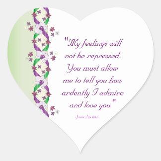 Darcy Quote Wedding Sticker