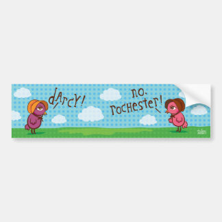 darcy vs. rochester bumper sticker car bumper sticker