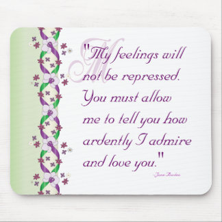 Darcy Wedding Quote Mousepad
