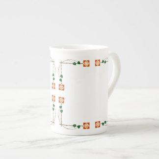 Dard Hunter Inspired Rose Tea Cup