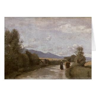 Dardagny, Morning, c.1853 (oil on canvas) Card