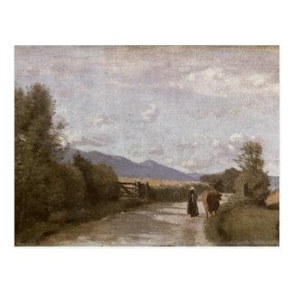 Dardagny, Morning, c.1853 (oil on canvas) Postcard