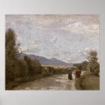 Dardagny, Morning, c.1853 (oil on canvas) Poster