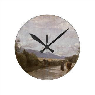 Dardagny, Morning, c.1853 (oil on canvas) Round Clock