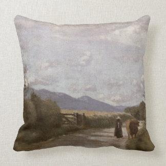 Dardagny, Morning, c.1853 (oil on canvas) Throw Pillow