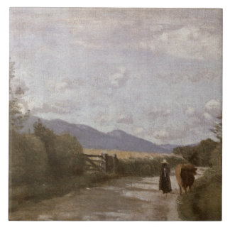 Dardagny, Morning, c.1853 (oil on canvas) Tile
