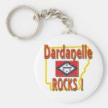 Dardanelle Rocks ! (red) Basic Round Button Keychain