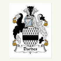Dardes Family Crest Postcard