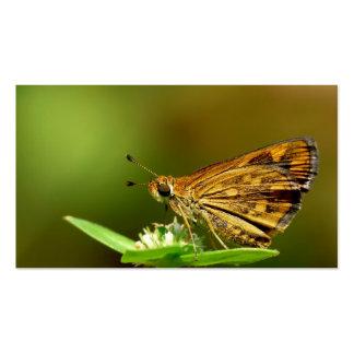 Dardo de la hierba del Tamil de la mariposa con el Plantilla De Tarjeta De Visita