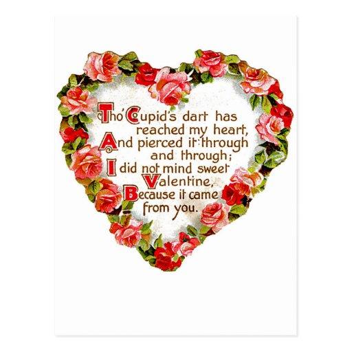 Dardo de los Cupids Tarjetas Postales