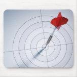 Dardo rojo mouse pads