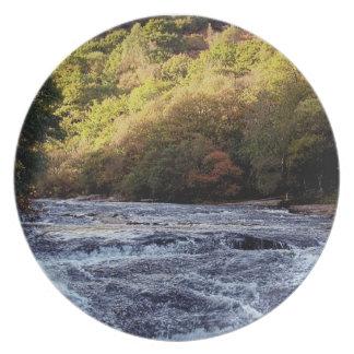 Dardo Vally Rowbrook Autunm del río de Darmoor Plato De Comida