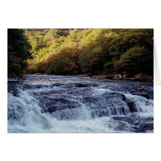 Dardo Vally Rowbrook Autunm del río de Dartmoor Tarjeta De Felicitación