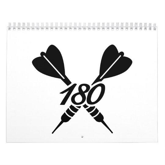 Dardos 180 calendarios de pared