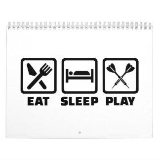 Dardos de Eat Sleep Play Calendario