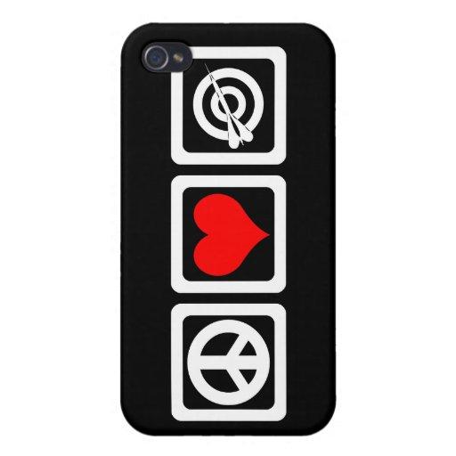 dardos del amor de la paz iPhone 4/4S funda