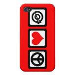 dardos del amor de la paz iPhone 4 cárcasa