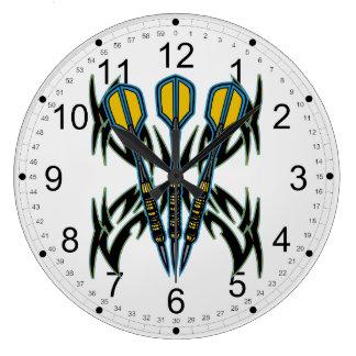 Dardos tribales reloj redondo grande