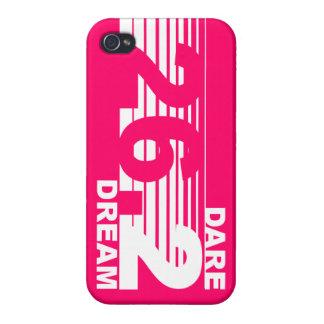 Dare 2 Dream - 26.2 Marathon iPhone 4 Case - Pink