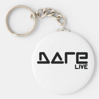 Dare 2 Live Basic Round Button Keychain