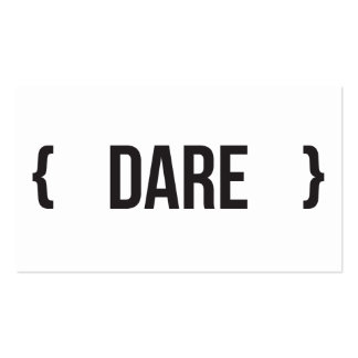 Dare - Bracketed - Black and White Business Card Templates